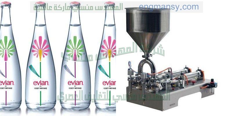 آلة تعبئة المشروبات والسوائل الخالية من الغازات في القناني الزجاجية