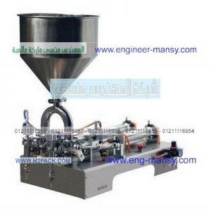 ماكينة تعبئة الزيوت والخل والمياه نصف اوتوماتيك اثنين نوزل التى تعمل بضغط الهواء