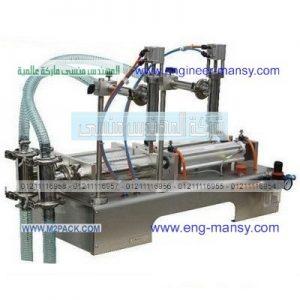 ماكينة تعبئة السوائل حتى واحد لتر نصف اوتوماتيك تعمل بالهواء المضغوط اثنين نوزل ذات التحكم بدواسة القدم
