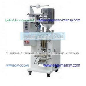 مكينة لتعبئة العصائر والصلصة والطحينة والصابون السائل والسمنة والزيوت والألبان وجميع السوائل
